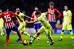 Luis Suarez of FC Barcelona (R) in action against Stefan Savic of Atletico de Madrid (L) during the La Liga 2018-19 match between Atletico Madrid and FC Barcelona at Wanda Metropolitano on November 24 2018 in Madrid, Spain. Photo by Diego Souto / Power Sport Images