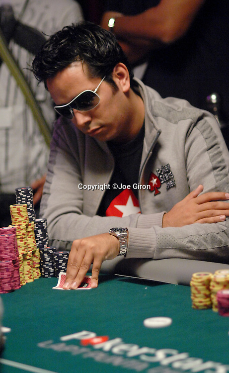 Angel Guillén with a sizable stack.