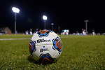 GREENSBORO, NC - DECEMBER 02: A general view of a soccer ball on the field before the Division III Men's Soccer Championship held at UNC Greensboro Soccer Stadium on December 2, 2017 in Greensboro, North Carolina. Messiah College defeated North Park University 2-1 to win the national title. (Photo by Grant Halverson/NCAA Photos via Getty Images)