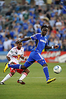 Kei Kamara...Kansas City were defeated 3-0 by New York Red Bulls at Community America Ballpark, Kansas City, Kansas.