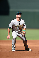 Oakland Athletics third baseman Matt Chapman (6) during an Instructional League game against the Arizona Diamondbacks on October 10, 2014 at Chase Field in Phoenix, Arizona.  (Mike Janes/Four Seam Images)