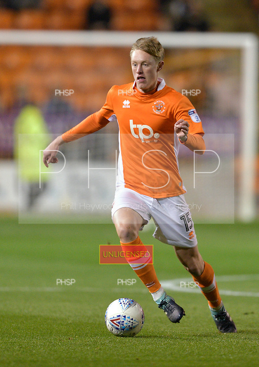 17/10/2017 Sky Bet League 1 Blackpool v Bury<br /> <br /> Sean Longstaff, Blackpool FC