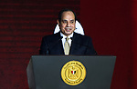 Egyptian President Abdel Fattah Sisi speaks during the Watan story conference, in Cairo, Egypt, on January 17, 2018. Photo by Stringer