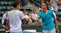 LUKAS ROSOL (CZE), TOMAS BERDYCH (CZE)<br /> <br /> Tennis - BNP PARIBAS OPEN 2015 - Indian Wells - ATP 1000 - WTA Premier -  Indian Wells Tennis Garden  - United States of America - 2015<br /> &copy; AMN IMAGES