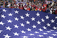 USA flag, Panama vs USA, World Cup qualifier at RFK Stadium, 2004.