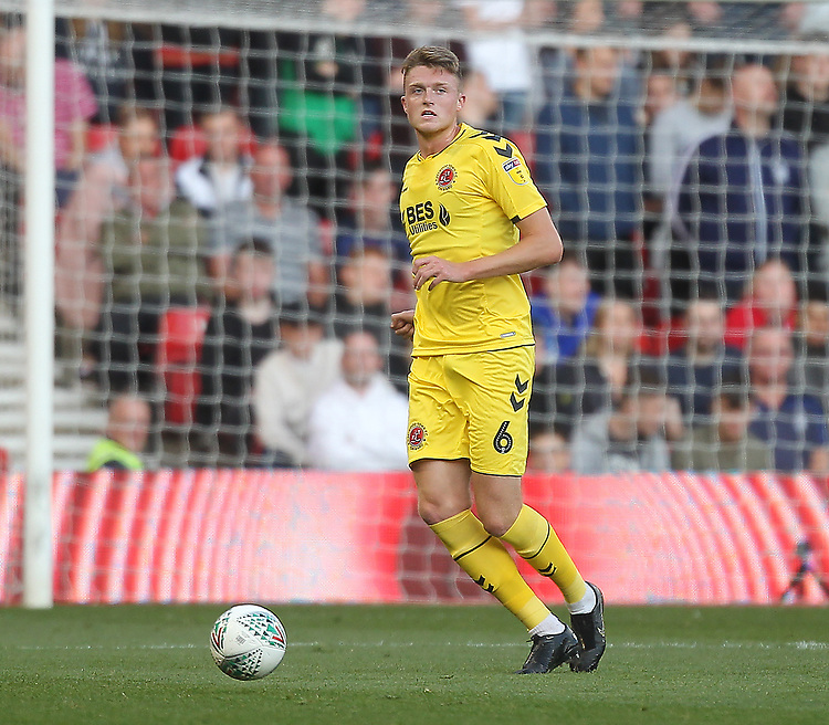 Fleetwood Town's Harry Souttar<br /> <br /> Photographer Mick Walker/CameraSport<br /> <br /> The Carabao Cup First Round - Nottingham Forest v Fleetwood Town - Tuesday 13th August 2019 - The City Ground - Nottingham<br />  <br /> World Copyright © 2019 CameraSport. All rights reserved. 43 Linden Ave. Countesthorpe. Leicester. England. LE8 5PG - Tel: +44 (0) 116 277 4147 - admin@camerasport.com - www.camerasport.com