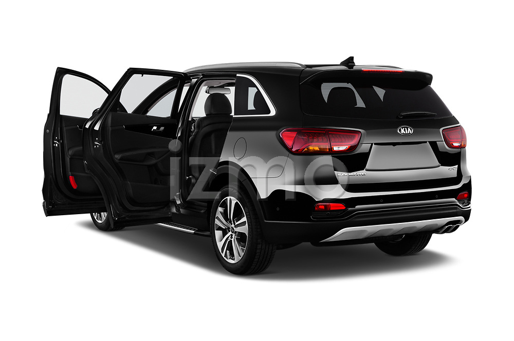 Car images close up view of a 2018 KIA Sorento GT Line 5 Door SUV doors