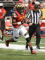 Maryland Terrapins DJ Moore (1) during a game against the Richmond Spiders on September 5 2015 at Byrd Stadium in College Park, MD. Maryland beat Richmond 51-21.