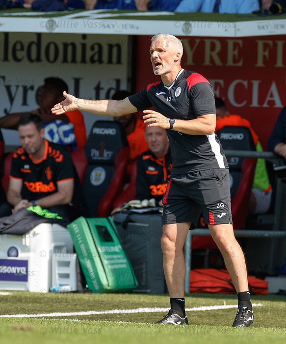 25.08.2019 St Mirren v Rangers: Jim Goodwin