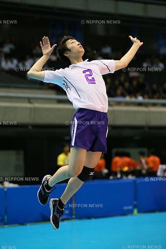 Takahiro Yanagida (Toyo), <br /> AUGUST 6, 2014 - Volleyball : <br /> 2014 All-Japan Inter High School Championships, <br /> Men's Final match <br /> between Higashi Fukuoka 3-0 Toyo  <br /> at Tokyo Metropolitan Gymnasium, Tokyo, Japan. <br /> (Photo by YUTAKA/AFLO SPORT)