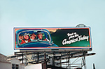 Billboard for Curtis Mayfield on the Sunset Strip circa 1975