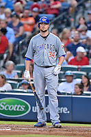 Chicago Cubs starting pitcher Jon Lester (34) during a game against the Atlanta Braves on July 18, 2015 in Atlanta, Georgia. The Cubs defeated the Braves 4-0. (Tony Farlow/Four Seam Images)