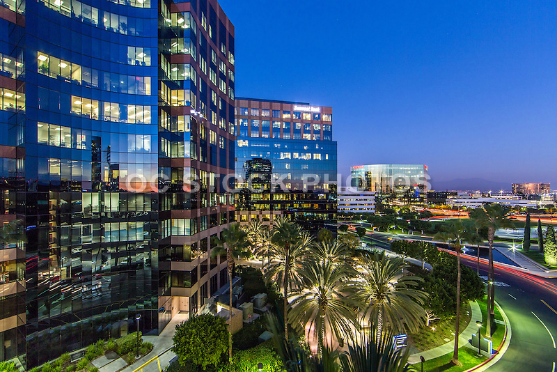 Irvine Business Complex at Dusk