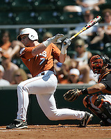 Texas Longhorns DH/C Preston Clark during the 2008 season. Photo by Andrew Woolley / Four Seam Images.