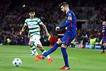 UEFA Champions League 2017/2018 - Matchday 6.<br /> FC Barcelona vs Sporting Clube de Portugal: 2-0.<br /> Alan Ruiz vs Gerard Pique.