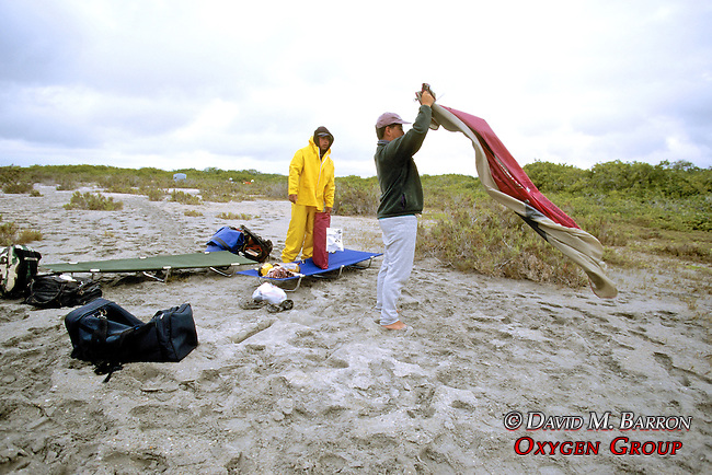 Mario & Paco Putting Up Tents