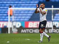 Bolton Wanderers' Josh Magennis applauds his side's fans at the end of the match <br /> <br /> Photographer Andrew Kearns/CameraSport<br /> <br /> The EFL Sky Bet Championship - Bolton Wanderers v Millwall - Saturday 9th March 2019 - University of Bolton Stadium - Bolton <br /> <br /> World Copyright © 2019 CameraSport. All rights reserved. 43 Linden Ave. Countesthorpe. Leicester. England. LE8 5PG - Tel: +44 (0) 116 277 4147 - admin@camerasport.com - www.camerasport.com