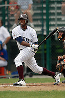 Outfielder Victor Roache (Georgia Southern Eagles) #28 of the Cotuit Kettleers during a game versus the Hyannis Harbor Hawks on June 28, 2011 at Lowell Park in Cotuit, Massachusetts. (Ken Babbitt/SportsPix/Four Seam Images)