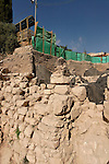 The City of David, ruins of a large public building of the 10th century B.C., identified as King David's palace by archeologist Eilat Mazar<br />