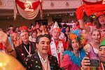 27. 02.2019, Maritim Hotel , Koeln,  GER, Karnevalssitzung des 1. FC Koeln , <br /> <br /> im Bild / picture shows: <br /> beim Absingen der FC Hymne hinten li Wolfgang Bosbach<br /> <br /> Foto © nordphoto / Meuter