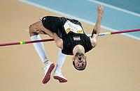 ISTAMBUL, TURQUIA, 10 DE MARCO 2012 - MUNDIAL DE ATLETISMO INDOOR -  Majed Aldin Ghazal atleta da Siria durante a classificacao masculina no salto em altura no Campeonato Mundial de Atletismo Indoor na Atakoy Arena, em Istambul na Turquia, neste sabado, 10. (FOTO: BERND THISSEN / BRAZIL PHOTO PRESS).