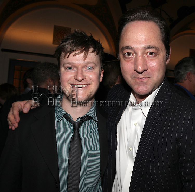 Steven Boyer & Brennan Brown.attending the reception for the final performance of the New York City Center ENCORES! Production of 'Gentlemen Prefers Blondes' at City Center in New York City on 5/13/2012.