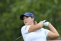 Cristie Kerr (USA) tees off the 13th tee during Thursday's Round 1 of The Evian Championship 2018, held at the Evian Resort Golf Club, Evian-les-Bains, France. 13th September 2018.<br /> Picture: Eoin Clarke | Golffile<br /> <br /> <br /> All photos usage must carry mandatory copyright credit (&copy; Golffile | Eoin Clarke)