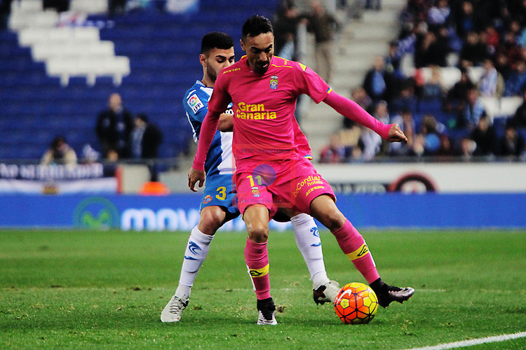 League BBVA 2015/2016 -Game: 16.<br /> RCD Espanyol vs UD Las Palmas: 1-0.<br /> Ruben Duarte vs Momo.