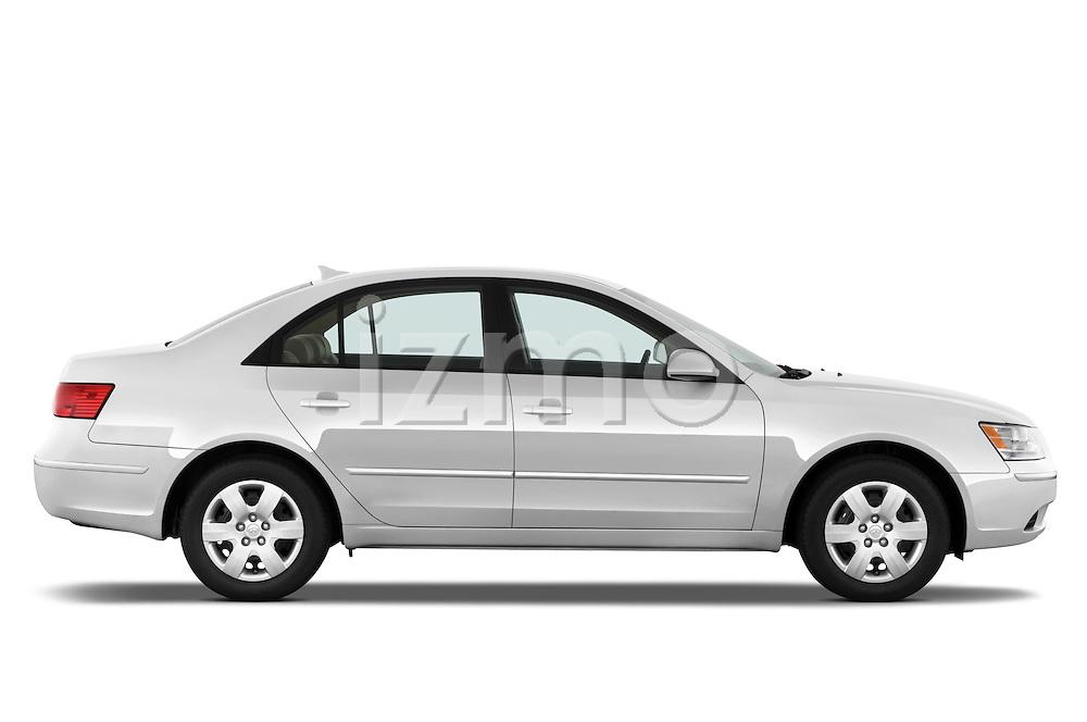 Passenger side profile view of a 2010 Hyundai Sonata GLS.