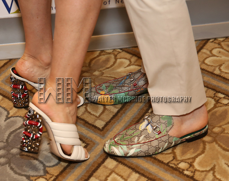 Mariska Hargitay and Jordan Roth, shoe detail, attend The 7th Annual Elly Awards at The Plaza Hotel on June 19, 2017 in New York City.