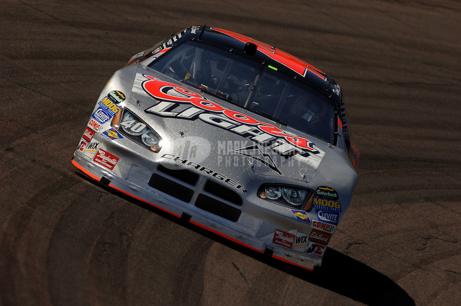 Apr 20, 2006; Phoenix, AZ, USA; Nascar Nextel Cup driver David Stremme of the (40) Coors Light Dodge Charger during practice for the Subway Fresh 500 at Phoenix International Raceway. Mandatory Credit: Mark J. Rebilas-US PRESSWIRE Copyright © 2006 Mark J. Rebilas..