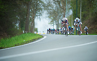 Liege-Bastogne-Liege 2012.98th edition..Gaetan Bille leading the pack