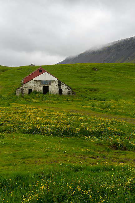 A farm at Asolfsskali in the south of Iceland.