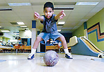The Gazette. Chris Jones, 5 of Laurel, lets a ball fly during one of his practice sessions at White Oak Duckpin Lanes in White Oaks. Jones has a high score of 121 and averages 89. He has been bowling since he was four years old.