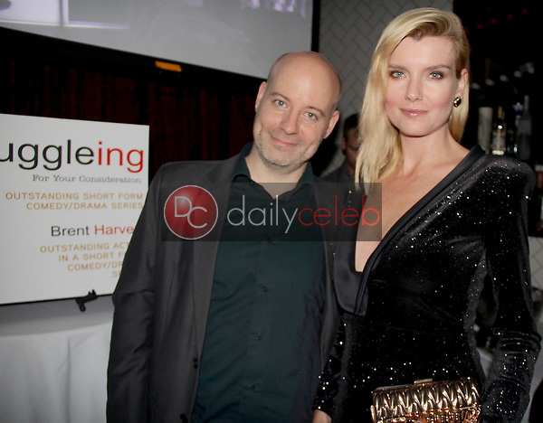 "Guy-Roger Duvert, Eugenia Kuzmina<br /> at the ""Struggleing"" For Your Consideration event hosted by A. Whole Productions and Brent Harvey Films, Crossroads Kitchen, Los Angeles, CA 06-06-18<br /> David Edwards/DailyCeleb.com 818-249-4998"