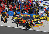 Apr 29, 2007; Talladega, AL, USA; Nascar Nextel Cup Series driver Scott Riggs (10) pits during the Aarons 499 at Talladega Superspeedway. Mandatory Credit: Mark J. Rebilas