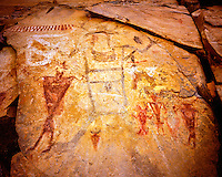 Fremont rock art, Range Creek Wildlife Management Area, Utah, Ancient Fremont CUlture pictographs, Range Creek Canyon