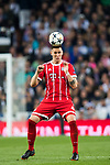 Niklas Sule of FC Bayern Munich in action during the UEFA Champions League Semi-final 2nd leg match between Real Madrid and Bayern Munich at the Estadio Santiago Bernabeu on May 01 2018 in Madrid, Spain. Photo by Diego Souto / Power Sport Images