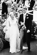 12 Jun 1971, Washington, DC, USA --- President Richard Nixon's daughter Tricia Nixon weds Edward Cox at the White House. --- Image by © JP Laffont