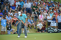 Kevin Kisner (USA) watches his putt on 18 during day 5 of the World Golf Championships, Dell Match Play, Austin Country Club, Austin, Texas. 3/25/2018.<br /> Picture: Golffile | Ken Murray<br /> <br /> <br /> All photo usage must carry mandatory copyright credit (© Golffile | Ken Murray)