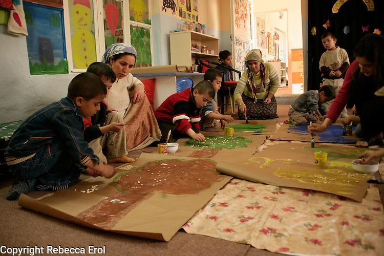 Children and teachers in a nursery in Mardin, southeastern Turkey