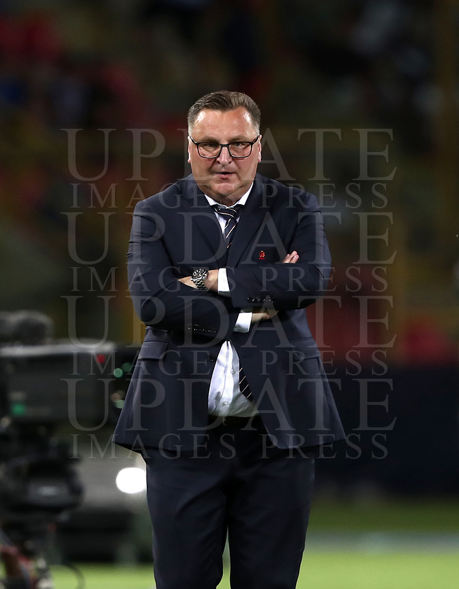 Football: Uefa under 21 Championship 2019, Italy -Poland, Renato Dall'Ara stadium Bologna Italy on June19, 2019.<br /> Poland's under 21 national team coach Czeslaw Michniewicz looks on during the Uefa under 21 Championship 2019 football match between Italy and Poland at Renato Dall'Ara stadium in Bologna, Italy on June19, 2019.<br /> UPDATE IMAGES PRESS/Isabella Bonotto