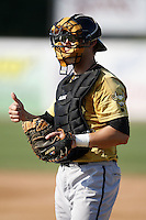 June 24, 2009:  Catcher Craig Parry of the State College Spikes during a game at Eastwood Field in Niles, OH.  The Spikes are the NY-Penn League Short-Season A affiliate of the Pittsburgh Pirates.  Photo by:  Mike Janes/Four Seam Images
