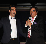Max Crumm and Dale Badway as Broadway and Daytime Stars head The Jane Elissa Extravaganza - an intimate evening with a cocktail reception and musical performances - to benefit Leukemia/Lymphoma Research on October 8, 2013 at the New Marriott Marquis at the Skylight Room, New York City, New York. (Photo by Sue Coflin/Max Photos)