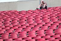 SAO PAULO, SP, 10.08.2014 - CAMP. BRASILEIRO - SAO PAULO - VITORIA - Torcedores do Sao Paulo antes da partida contra o Vitoria jogo valido pela 14 rodada do Campeonato Brasileiro no Estadio Cicero Pompeu de Toledo no Morumbi regiao sul de Sao Paulo neste domingo, 10. (Foto: William Volcov / Brazil Photo Press).