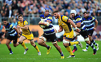 Leroy Houston of Bath Rugby goes on the attack. Aviva Premiership match, between Bath Rugby and Worcester Warriors on September 17, 2016 at the Recreation Ground in Bath, England. Photo by: Patrick Khachfe / Onside Images