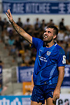 Lucas da Silva SC Kitchee celebrating his score during the week two Premier League match between Kitchee and Dreams FC at on September 10, 2017 in Hong Kong, China. Photo by Marcio Rodrigo Machado / Power Sport Images