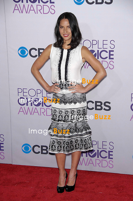 Olivia Munn during the Peoples Choice Awards 2013, held at the Nokia Theatre, on January 9, 2013, in Los Angeles..