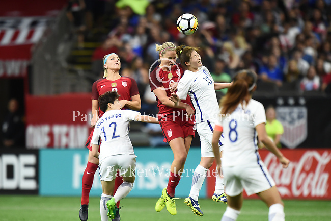 U.S. Women's National Soccer Team downs the Korean Republic Team, 3-1, in a friendly match at the Mercedes-Benz Superdome in New Orleans.