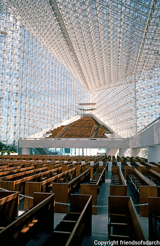 Philip Johnson: Crystal Cathedral--Interior. Photo '80.